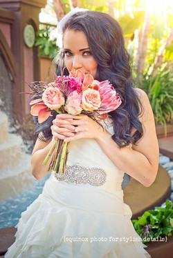 bridal hair makeup San Diego wedding