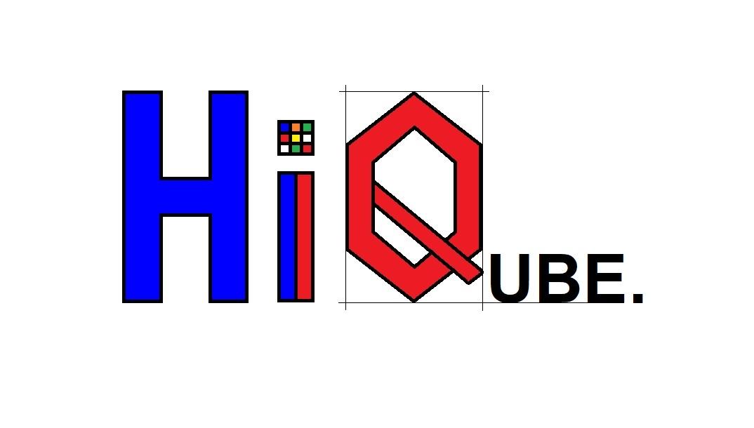"""Scoala """"HiQube"""" - Logo"""