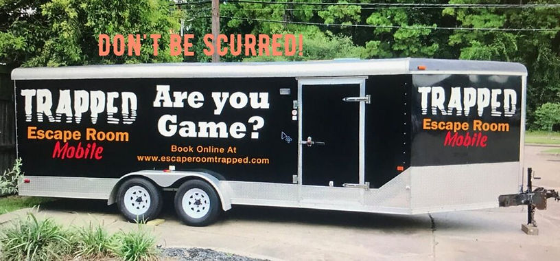 trapped mobile trailer- dont be scurred.