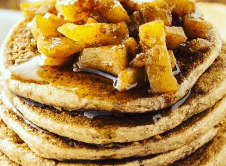 Apple Cinnamon Ginger Pancakes