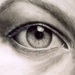 'Eye' by Katarzyna (Kat) Vedah, 1998, charcoal drawing, www.vedahspace.com