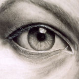 'Eye' by Katarzyna (Kat) Vedah, 1998, charcoal drawing, www.vedahspace.com