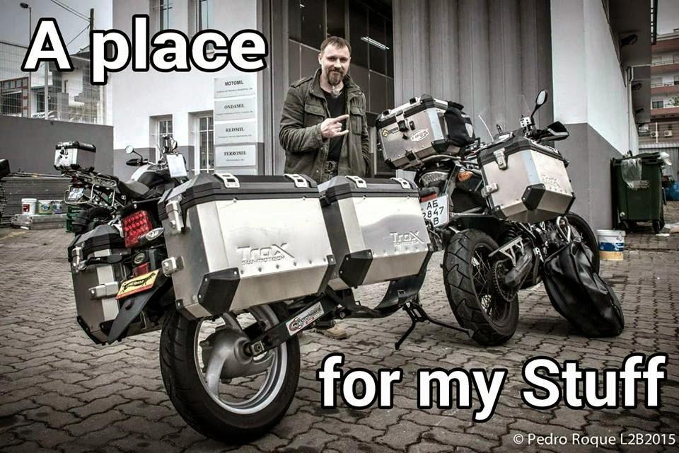 Motorrad Gepäck Extrem - Wie viel braucht der Mensch?
