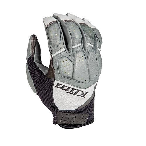 Klim Dakar Pro Glove Handschuh Light Gray Hellgrau Leder Motorrad
