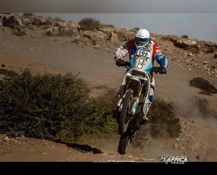 Africa Eco Race Bike Action