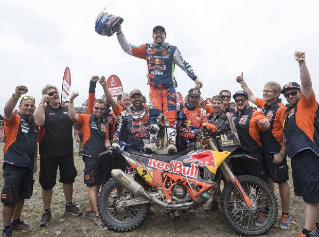 Matthias Walkner als Sieger der Rally Dakar 2018