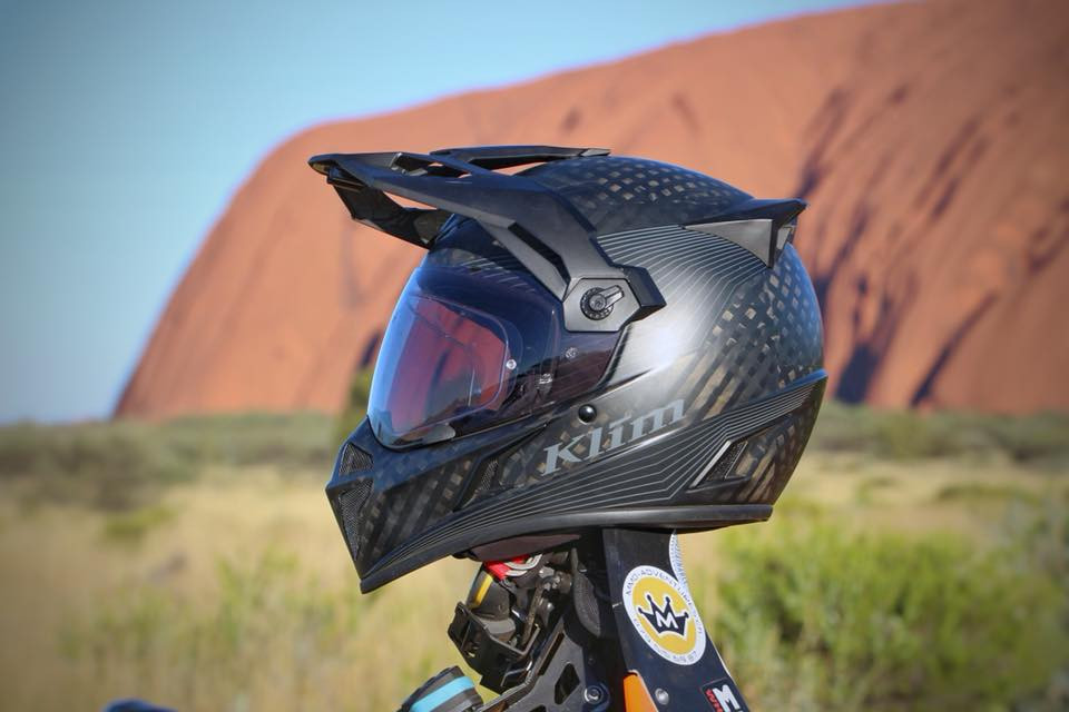 Klim, Krios, Stealth Matte Black, Pinlock Lens, Transitions Lens, Uluru, Australien, KBT Adventures, Motorcycle, Adventure
