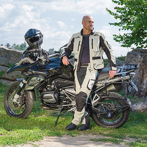 Stadler Voyager II Herren Motorrad Jacke Sand/Schwarz Goretex GTX