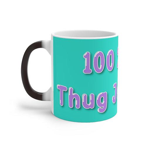 100% Thug Juice Thermal Thug Mug (Turquoise)