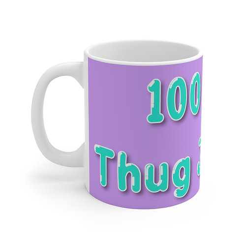 100% Thug Juice Thug Mug (Purple)