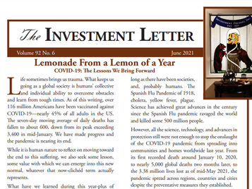 Lemonade From a Lemon of a Year: COVID-19 - The Lessons We Bring Forward