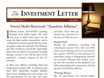 """Newest Media Buzzword: """"Transitory Inflation"""""""