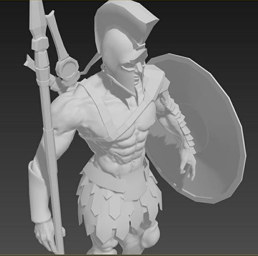 Final Sculpt 3/4 View