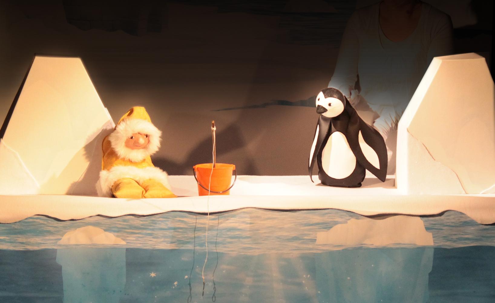 Pingouin et l'Inuit