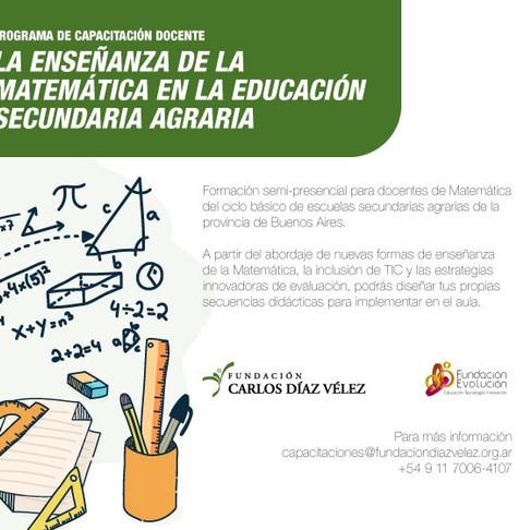 La enseñanza de la matemática en la educación secundaria agraria