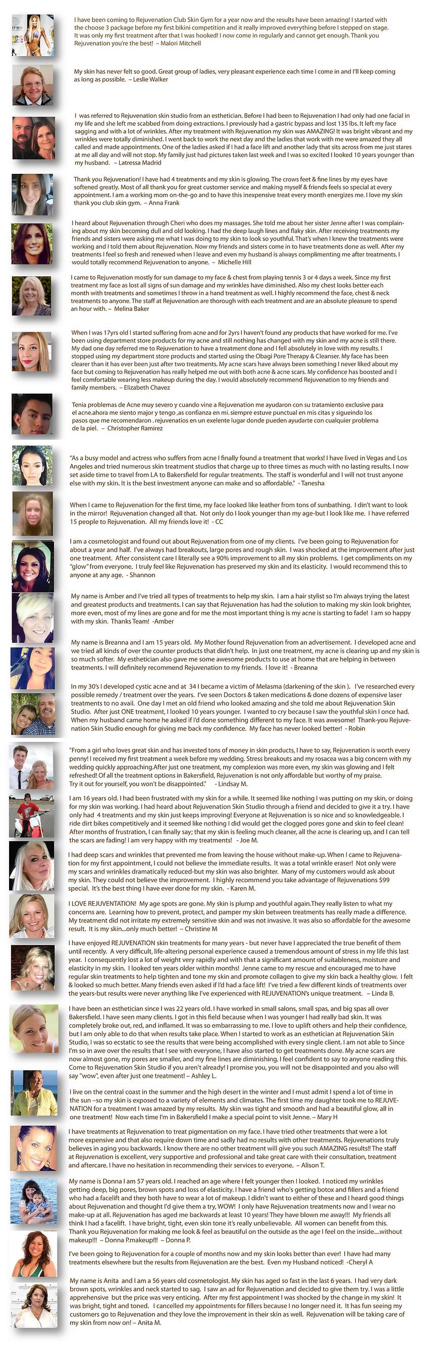 Rejuvenation Testimonials