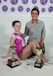 WZ Junior Champion, Beth, with teacher, Kim