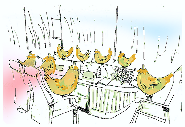 There's aint nobody here but us chickens