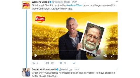 Walkers own-goal social media gaffe