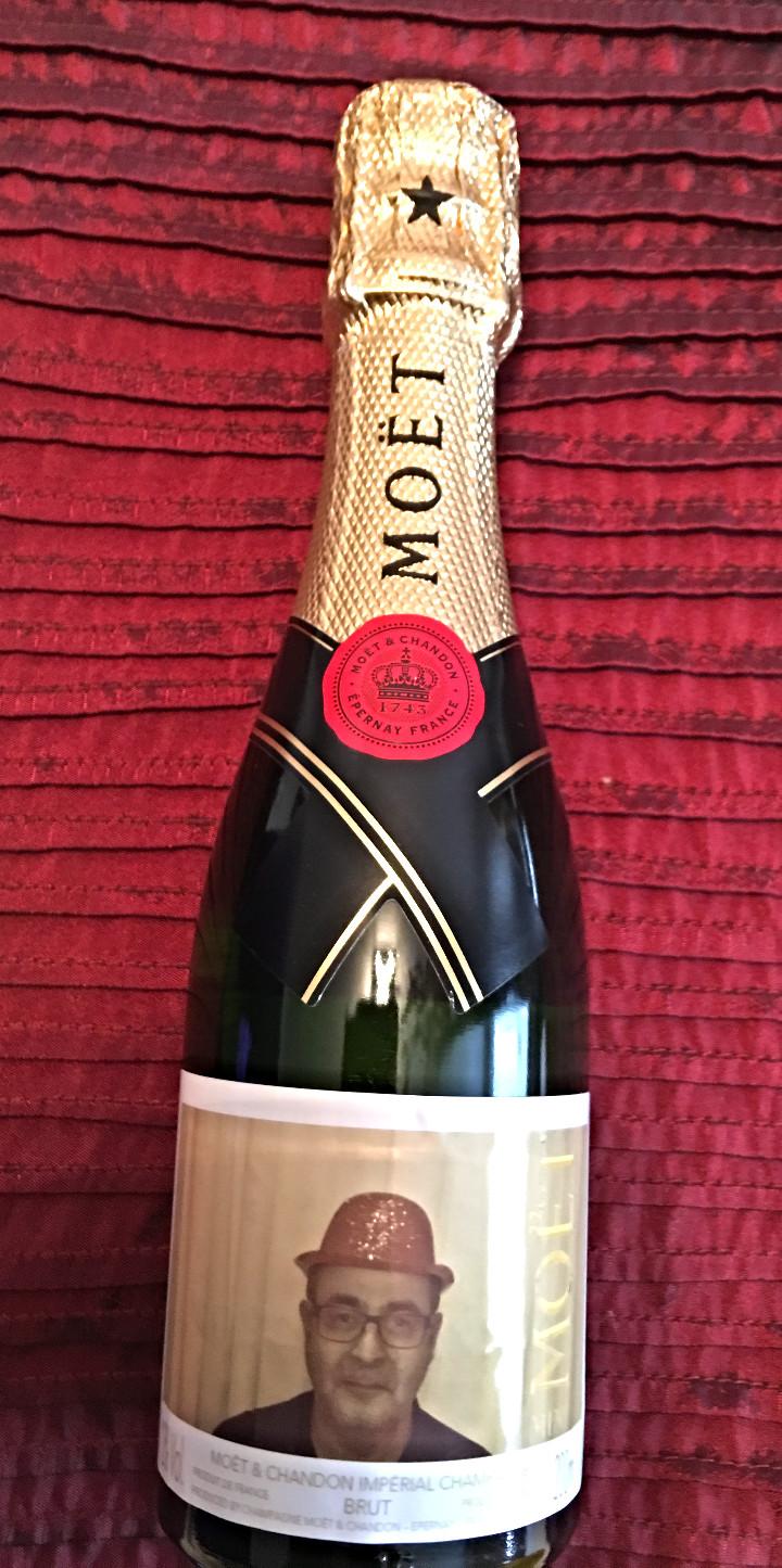 Moet & Chandon Xmas bottle Gabay