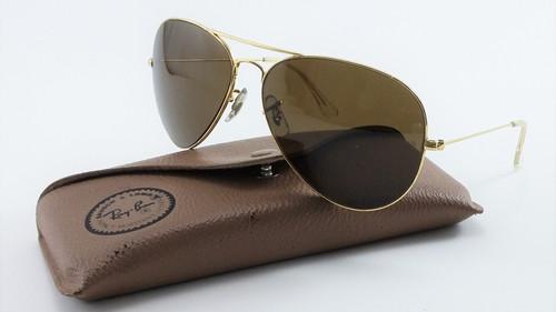5821a1768 Óculos Ray Ban Antigo Aviador B&l Lente Marrom Original EUA