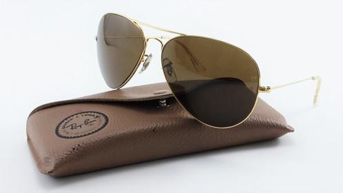 5966d7ee8 Óculos Ray Ban Antigo Aviador B&l Lente Marrom Original EUA