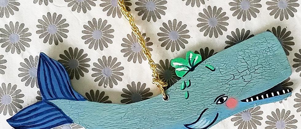 Nico the Whale Ornament