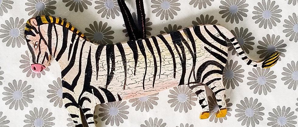 Anais the Zebra Ornament