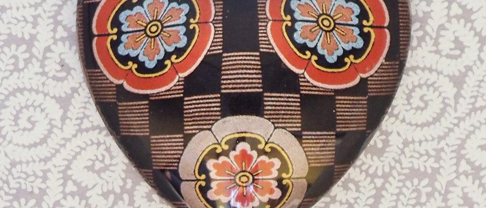 Melinda Shea Glass Charm - Chequered