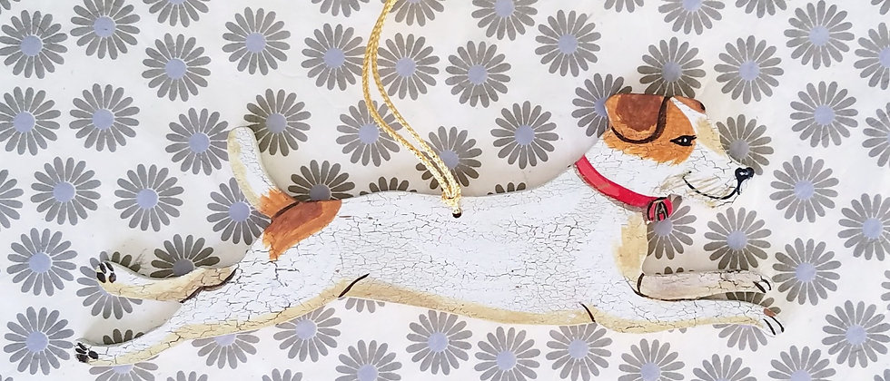 Jaques the Jack Russell Dog Ornament