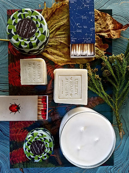 Holiday Candles, Matches, and Soaps