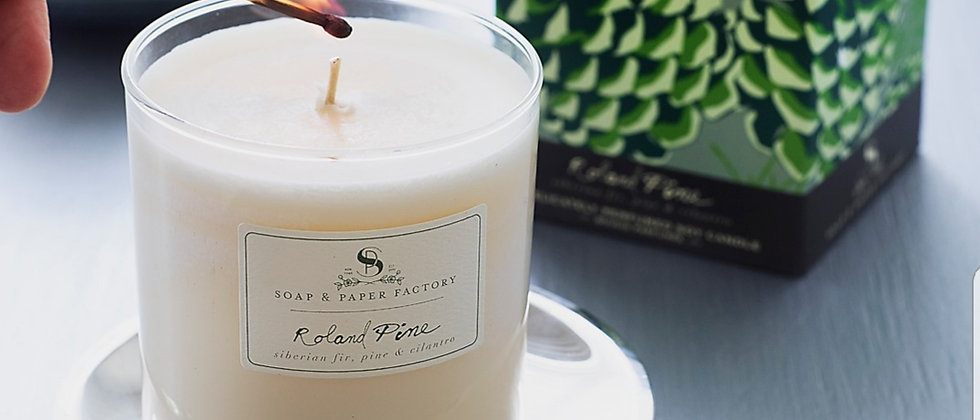 Soap and Paper Roland Pine Large Soy Candle