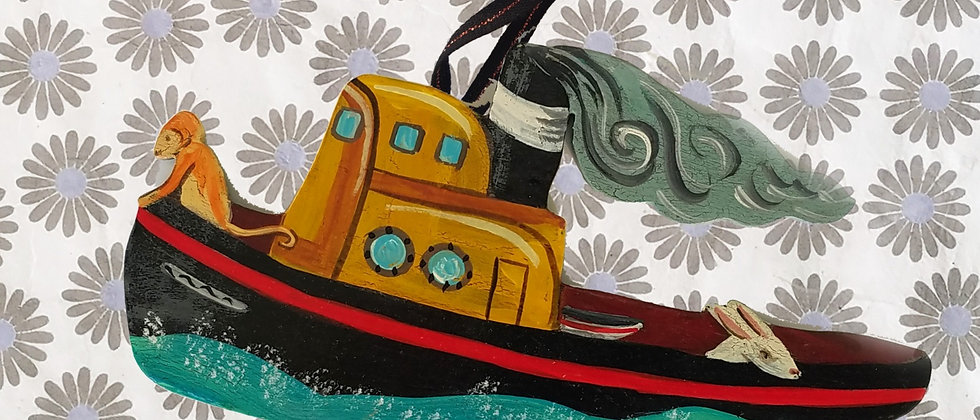 Otis in Boat