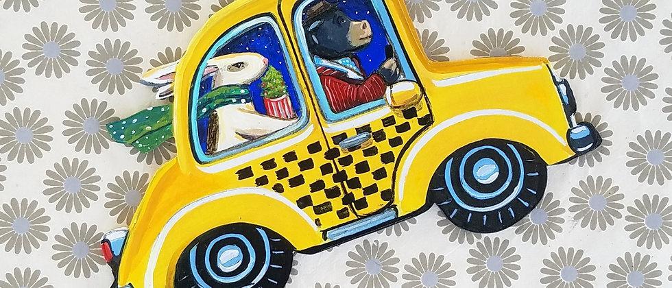 Otis in Taxi Cab Ornament