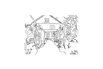 J Milena, Les Jardins d'helene, Provence, Illustration, Marseille, Sud, France, personnalisation, textile, croquis
