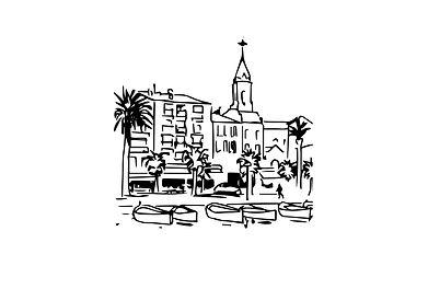 J Milena, Sanary, Provence, Illustration, Marseille, Sud, France, personnalisation, textile, croquis