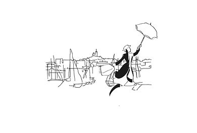 J Milena, Madame Poppins, Provence, Illustration, Marseille, Sud, France, personnalisation, textile, croquis