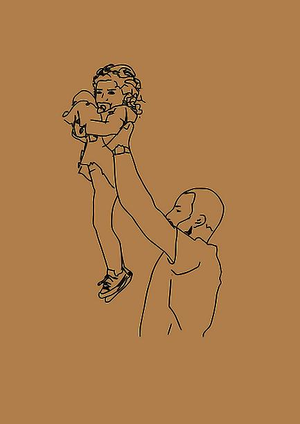 Cécilia, souhaitait créer des illustrations à partir d'une séance photo réalisée en famille, pour habiller leur intérrieur