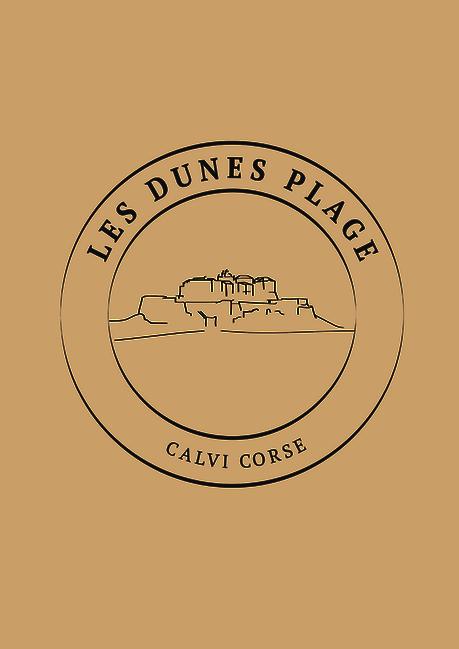 Réalisation graphique, création du logo avec les lignes de Calvi pour une plage privée