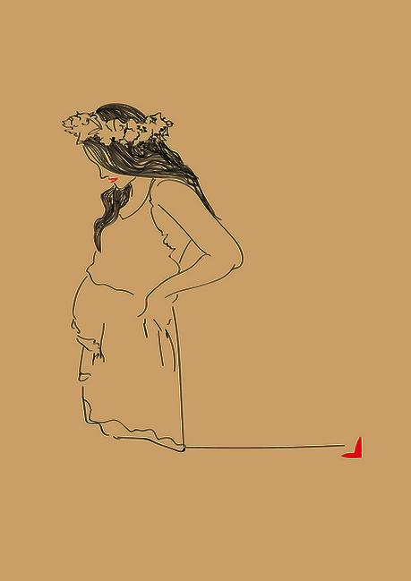 Marie, souhaitait offrir les lignes du souvenir à son amie pour immortaliser sa grossesse
