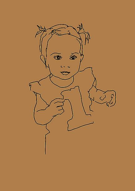 Lola, voulait créer une carte d'anniversaire pour les un an de sa petite cousine