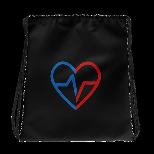 Black Love Matters Drawstring bag