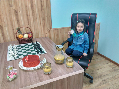 Zhumagali Raian's first medal from National Youth Chess Championships