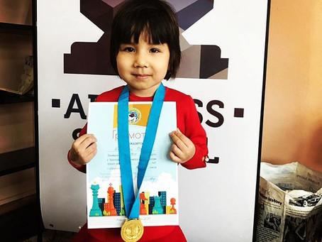 Zhumagali Rayana - Two-Time Champion of Almaty city among girls under 6 years!