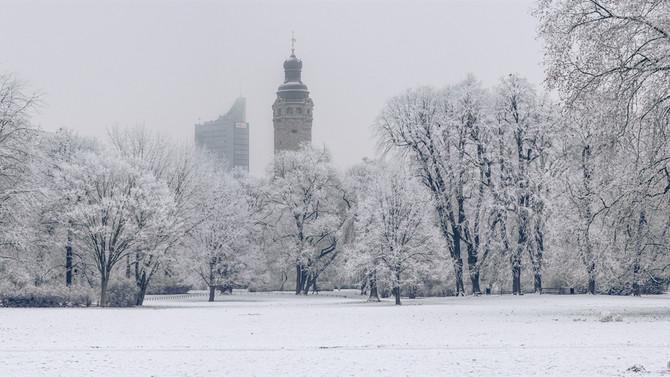Leipzig unter Eis und Schnee