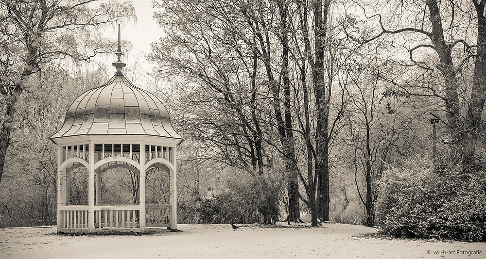 Pavillon am Eingang zum Johannapark