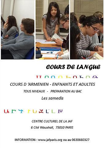 cours de langue arménienne
