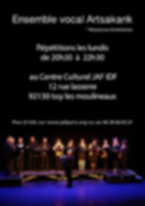 ARTSAKANK Ensemble vocal