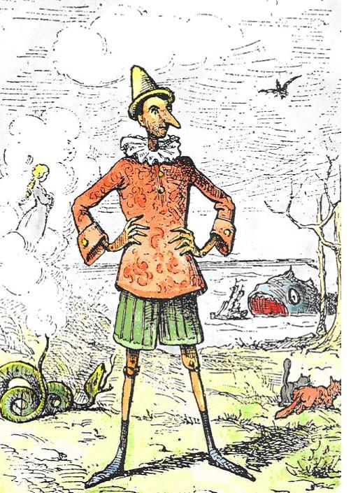 Copertina originale di Pinocchio di Carlo Collodi