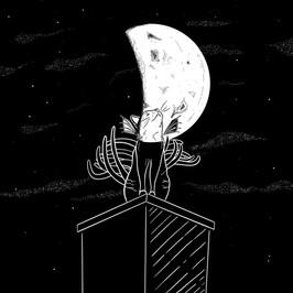 Moon Cat Gargoyle